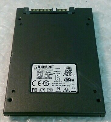 "240GB KINGSTON SA400S37/240G 2.5"" 7mm SSD solid state drive"