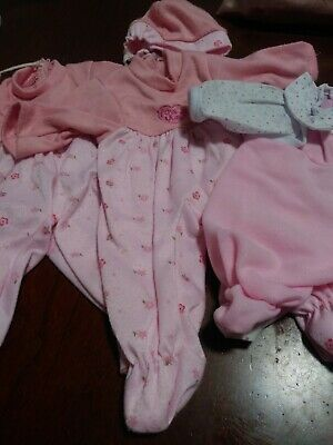 Kid Concepts Triplets 3 Baby Dolls Lovely Trio With Sleepers Pajamas
