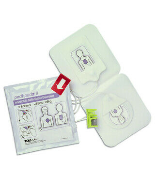 Zoll Pedi-Padz II Infant/ Child Electrodes 8900-0810-01 *FREE DELIVERY*