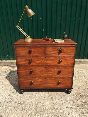 Antique Victorian Mahogany Chest Of Drawers 🚚