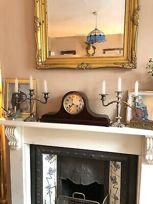 Antique Mantle Napoleon Hat Large Art Deco Chiming Clock Wind Up Working Tidy