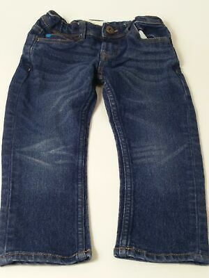 Boys Matalan Blue Dark Wash Adjustable Waist Slim Fit Denim Jeans Age 4 Years