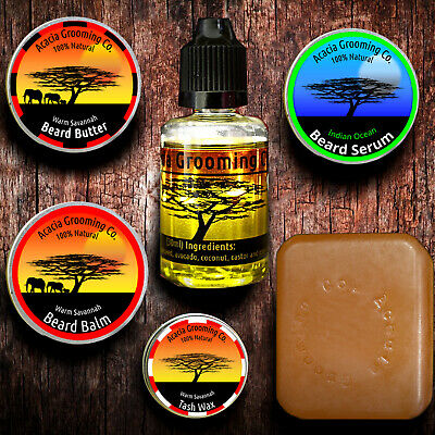 Pick Any! Natural Beard Oil, Balm, Butter, Soap Tash Wax Complete Gift Set Kit