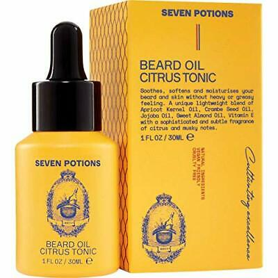 Seven Potions Premium Beard Oil for Men — Jojoba Oil Beard Softener to Nourish