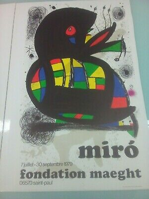 ADVERTISEMENT GALLERY MAEGHT MIRO PARIS GREEK ART POSTER PRINT LV378