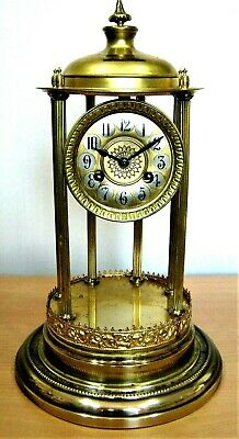 LARGE VINTAGE 8 DAY BANDSTAND CLOCK BY TOBIAS BAUERLE St GEORGEN GERMANY c1900