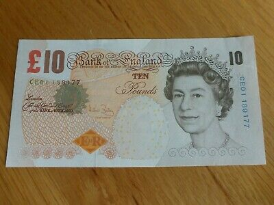 2000 Unc Bank Of England £10.00 Banknote