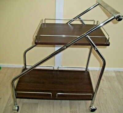 Drinks Trolley - Art Deco Chrome and dark wood its Lovely