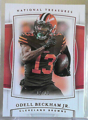 Cleveland Browns 2-Card Lot - 2019 National Treasures Odell Beckham + Nick Chubb