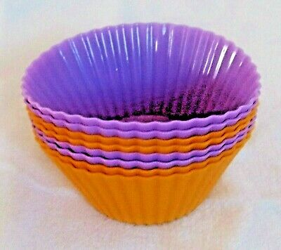 Silicone Round Cup Cake Muffin Cupcake Cases x 8