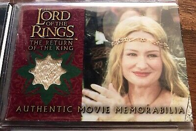 Costume Card Lord of the rings LOTR Eowyn coronation dress TOPPS