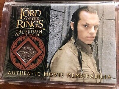 Costume Card Lord of the rings LOTR Elrond bronze silk robe TOPPS