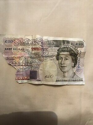 Old £20 Note Ripped (missing Bit)