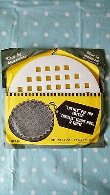 "Vintage ""Lattice"" Pie Top Cutter. 10"" Diameter."