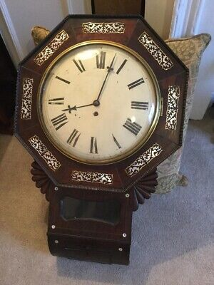 Early 19Th Century Fusee Drop Dial Wall Clock Circa 1820-1840