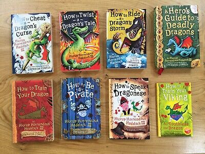 How To Train Your Dragon Books (Paperback and Hardback) Like New