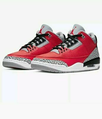 Nike Air Jordan 3 Retro Fire Red Cement Grey Black CQ0488-600 youth sizes ds new