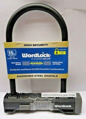 CLEARANCE B77074 15MM X 1.8M LOCKING SECURITY CABLE BIKE LOCK WEATHER RESISTANT