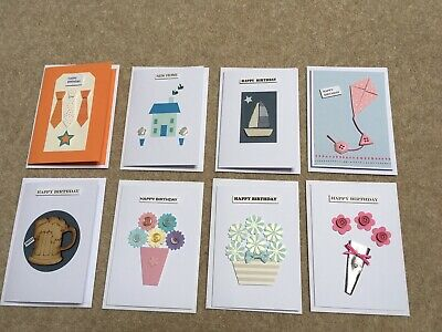 8 Handcrafted Bespoke Greetings Cards