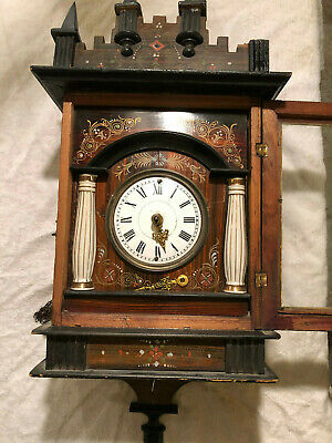 Antique Black Forest Clock, Not Cuckoo Clock..nice Project