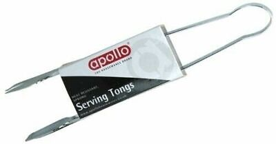 """2x 9"""" STAINLESS STEEL MULTI PURPOSE KITCHEN FOOD SALAD ICE SERVING TONG TONGS"""