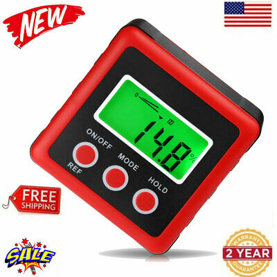 Waterproof Digital Bevel Box Level Angle Finder Gauge Protractor Inclinometer US