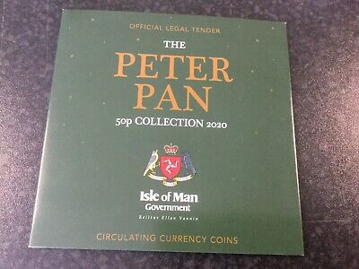 Isle of Man Official Government 2020 Peter Pan 2 6x Coin 50p Folder Set