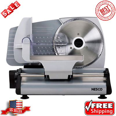 Electric Meat Slicer Deli Cheese Food Cutter Commercial Blade 180 W Kitchen Home