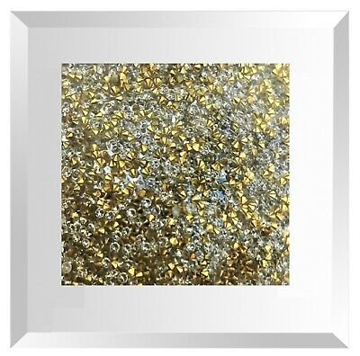 New Set Of 4 Crushed Sparkling Crystal Mirror Stunning Diamond Filled Glass Coas 10 86 Picclick Uk