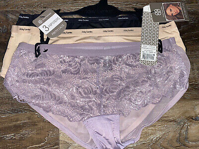 Details about  /Daisy Fuentes Women/'s Hipster Lace Underwear Panties 3-Pair Polyester Blend ~ M