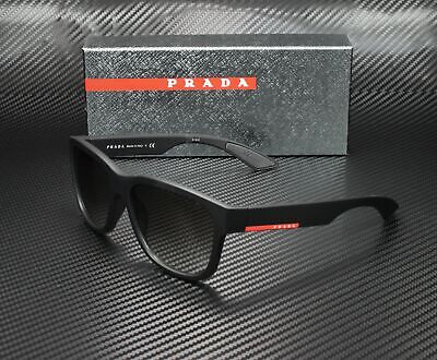 PRADA LINEA ROSSA PS 03QS DG00A7 Black Rb Grey Gradient 57 mm Men's Sunglasses