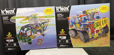 Transport Chopper brand NEW K/'Nex Building Worlds Kids Love 342 pieces