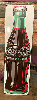 NEW ANDE ROONEY REPRODUCTION EMBOSSED METAL COCA COLA BOTTLE CARTON SIGN FUN