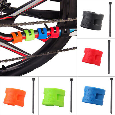 4x Bike Bicycle stay Protector Chain Frame Chain Guard Bash Guards Rubber rings