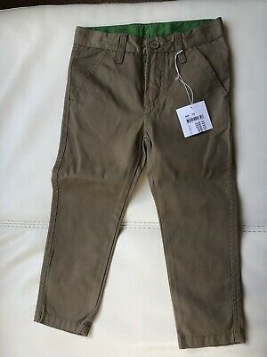 BNWT Polarn O Pyret Boys Brown Trousers Age 3-4 Years