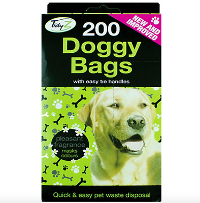 Doggy Poo Bag Scented Doggy Bags With Easy Tie Handles For Pet 400 x  BAGS