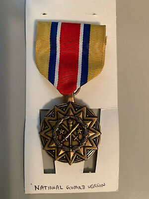 US Army ARNG Reserve Components National Guard Achievement Medal Ribbon citation