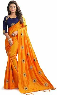 Classic off hand work sareesari With Blouse Traditional Wedding Wear Indian Women Sari for Party WearFestiveEthnicGift  Blouse Top