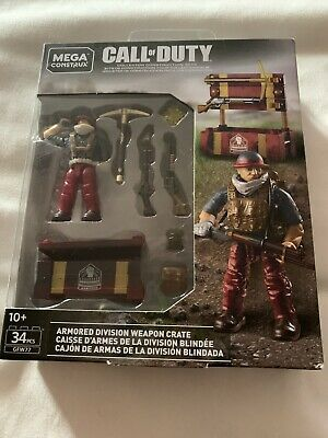 MEGA CONSTRUX CALL OF DUTY ARMORED DIVISION WEAPON CRATE GFW77 VHTF !!
