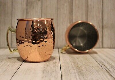 Oggi Pineapple Cup with Straw 12 oz Shinny Copper Plated Exterior New In Box