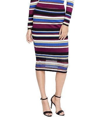 Rachel Roy Womens Striped Sweater Pencil Skirt