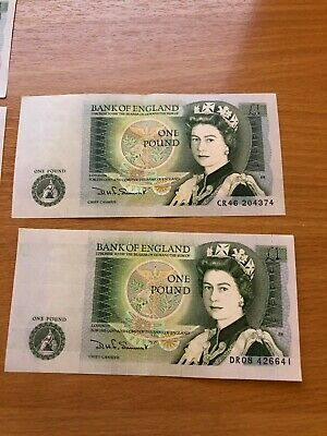 £1 Bank of England Old Pound Note - Immaculate Condition  DHF SOMERSET  - Newton