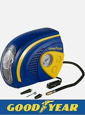 NEW 2 in 1 Tyre Air Compressor Inflator With LED Light Car Bike Bicycle