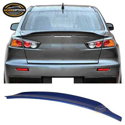 Fits 08-17 Mitsubishi Lancer OE Trunk Spoiler Painted Octane Blue # D06 ABS