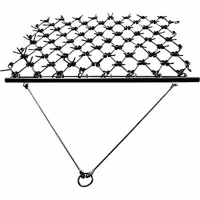 NorTrac Harrow Rake for Cleaning Leveling Soil & Stimulating Growth 6ftW x 8ftL