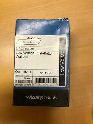 NEW ACUITY CONTROLS nLIGHT LOW VOLTAGE PUSH-BUTTON WALLPOD #NPODM 4P WH