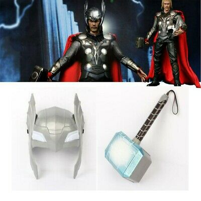 Helloween Christmas LED Glowing Sounds Thor Hammer Cosplay Toys Children's Favor