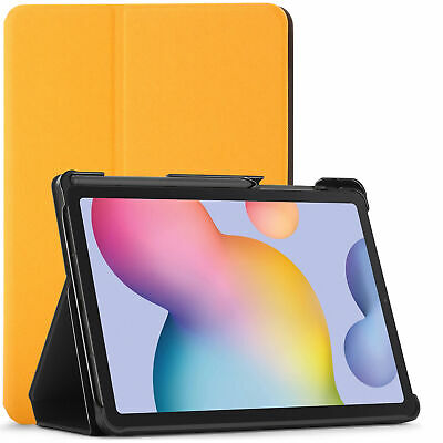 Samsung Galaxy Tab S6 Lite Custodia,Smart Cover - Giallo + Stilo Proteggi