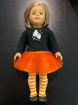 American Girl 2012 Spooky Fun Candy Corn Striped Tights for Doll Only