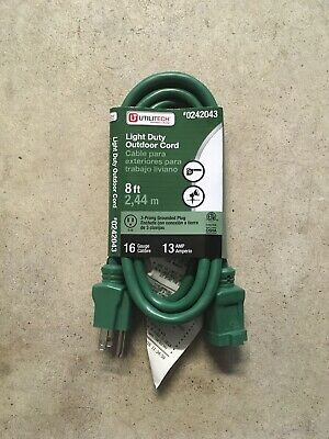 Utilitech 0051659 9-ft 12//3 3-Prong SPT-3 Heavy Duty General Extension Cord